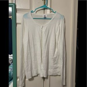 Old navy white button up cardigan